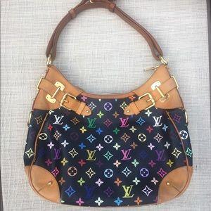 Authentic Louis Vuitton Greta Multicolor Handbag
